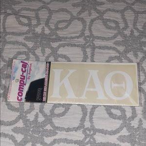 KAO Kappa Alpha Theta Car Window Decal ✨New✨